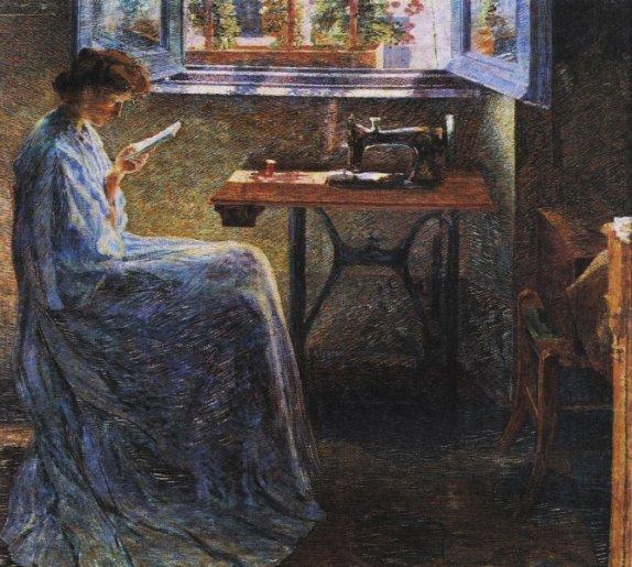 umberto-boccioni-il-romanzo-di-una-cucitrice-1908-collezione-barilla-di-arte-moderna-parma